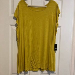 Torrid Mustard Yellow Super Soft Tank with Sleeves